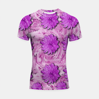 Miniatur flowers and decorative floral petals Shortsleeve rashguard, Live Heroes