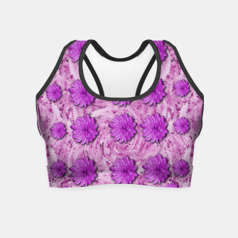 Miniatur flowers and decorative floral petals Crop Top, Live Heroes