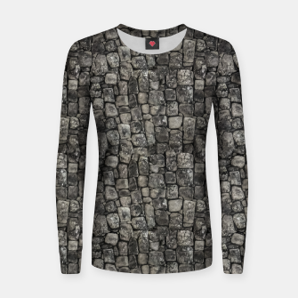 Thumbnail image of Ancient Stone Wall Pattern Women sweater, Live Heroes