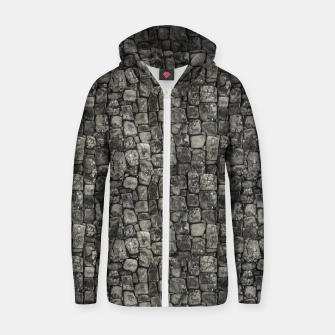 Thumbnail image of Ancient Stone Wall Pattern Zip up hoodie, Live Heroes