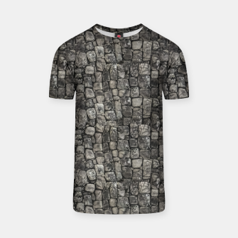 Thumbnail image of Ancient Stone Wall Pattern T-shirt, Live Heroes
