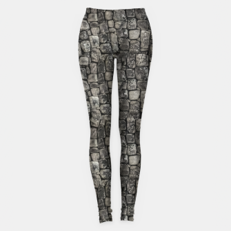 Thumbnail image of Ancient Stone Wall Pattern Leggings, Live Heroes