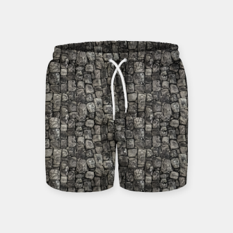 Thumbnail image of Ancient Stone Wall Pattern Swim Shorts, Live Heroes