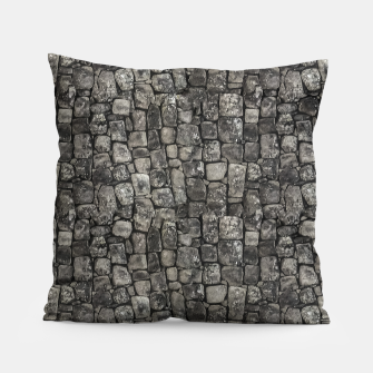 Thumbnail image of Ancient Stone Wall Pattern Pillow, Live Heroes