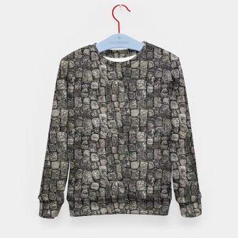 Thumbnail image of Ancient Stone Wall Pattern Kid's sweater, Live Heroes