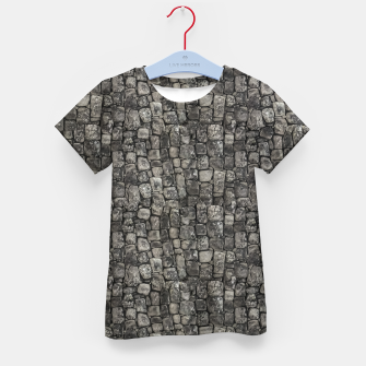 Thumbnail image of Ancient Stone Wall Pattern Kid's t-shirt, Live Heroes