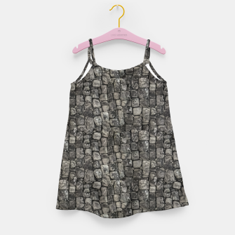 Thumbnail image of Ancient Stone Wall Pattern Girl's dress, Live Heroes