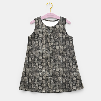 Thumbnail image of Ancient Stone Wall Pattern Girl's summer dress, Live Heroes