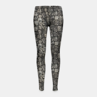 Thumbnail image of Ancient Stone Wall Pattern Girl's leggings, Live Heroes