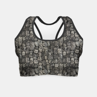 Thumbnail image of Ancient Stone Wall Pattern Crop Top, Live Heroes