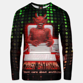 Thumbnail image of cyber satan Unisex sweater, Live Heroes