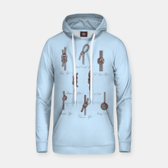 Thumbnail image of Nautical Knots (Light Blue and Brown) Hoodie, Live Heroes