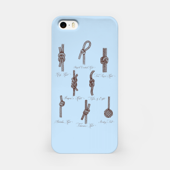 Thumbnail image of Nautical Knots (Light Blue and Brown) iPhone Case, Live Heroes