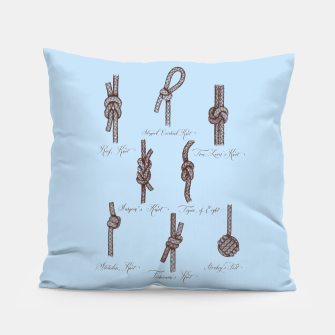 Thumbnail image of Nautical Knots (Light Blue and Brown) Pillow, Live Heroes