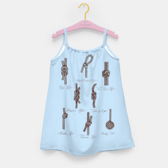 Thumbnail image of Nautical Knots (Light Blue and Brown) Girl's dress, Live Heroes