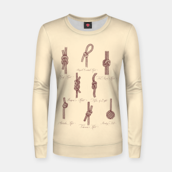 Thumbnail image of Nautical Knots (Beige and Sepia) Women sweater, Live Heroes