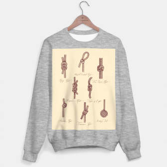Thumbnail image of Nautical Knots (Beige and Sepia) Sweater regular, Live Heroes