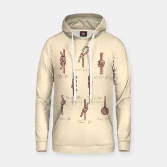 Thumbnail image of Nautical Knots (Beige and Sepia) Hoodie, Live Heroes