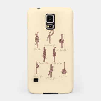 Thumbnail image of Nautical Knots (Beige and Sepia) Samsung Case, Live Heroes