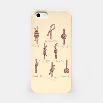 Thumbnail image of Nautical Knots (Beige and Sepia) iPhone Case, Live Heroes