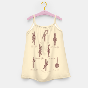Thumbnail image of Nautical Knots (Beige and Sepia) Girl's dress, Live Heroes