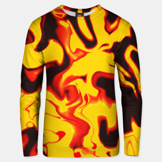 Thumbnail image of Black and yellow marble Unisex sweater, Live Heroes