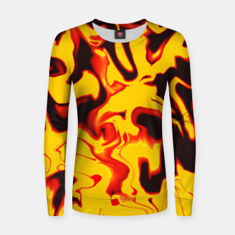 Thumbnail image of Black and yellow marble Women sweater, Live Heroes