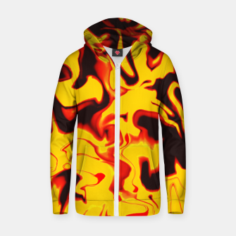Thumbnail image of Black and yellow marble Zip up hoodie, Live Heroes