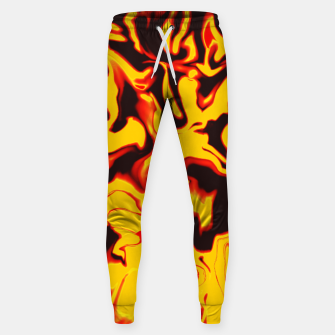 Thumbnail image of Black and yellow marble Sweatpants, Live Heroes