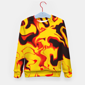 Thumbnail image of Black and yellow marble Kid's sweater, Live Heroes