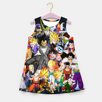 Thumbnail image of DBZ - Another Character Collage Girl's summer dress, Live Heroes