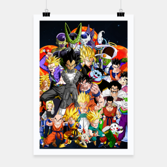 Thumbnail image of DBZ - Another Character Collage Poster, Live Heroes