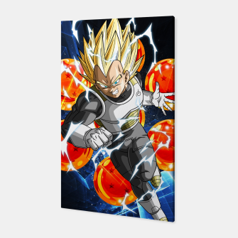 Miniatur Vegeta Attacking Canvas, Live Heroes