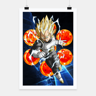Miniatur Vegeta Attacking Poster, Live Heroes