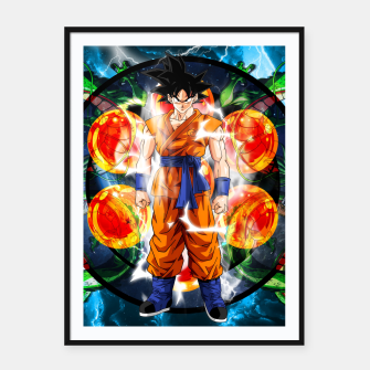 Thumbnail image of Goku Powering Up Framed poster, Live Heroes