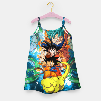 Goku now and then Girl's dress thumbnail image