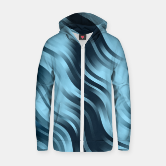 Thumbnail image of stripes wave pattern 7v2 coi Zip up hoodie, Live Heroes