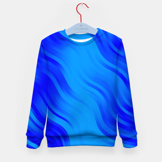 Thumbnail image of stripes wave pattern 7v2 yoi Kid's sweater, Live Heroes