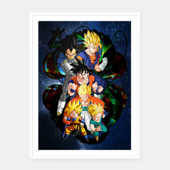 Miniatur Dragon Ball Z - The Fusions Framed poster, Live Heroes