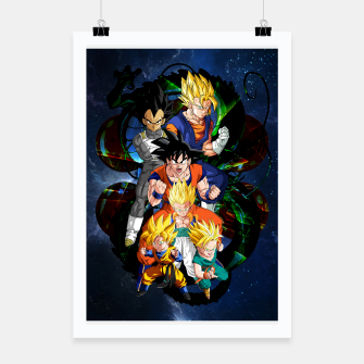 Miniatur Dragon Ball Z - The Fusions Poster, Live Heroes