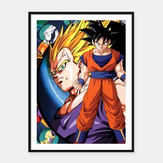Miniatur DBZ Circle Framed poster, Live Heroes
