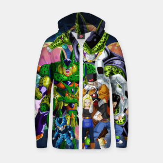 Thumbnail image of DBZ Androids Zip up hoodie, Live Heroes