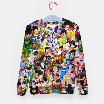 Thumbnail image of DBZ Characters Kid's sweater, Live Heroes