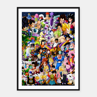 DBZ Characters Framed poster thumbnail image