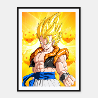 Miniatur Dragon Ball - Super Gogeta  Framed poster, Live Heroes