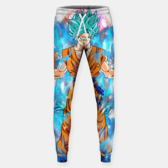 Thumbnail image of Dragon Ball Super Goku Super Saiyan Blue Powered up Sweatpants, Live Heroes