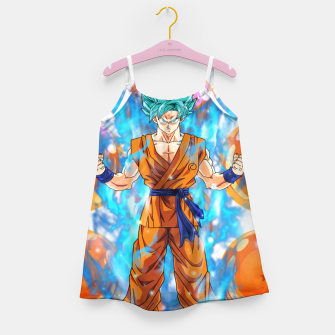 Dragon Ball Super Goku Super Saiyan Blue Powered up Girl's dress Bild der Miniatur
