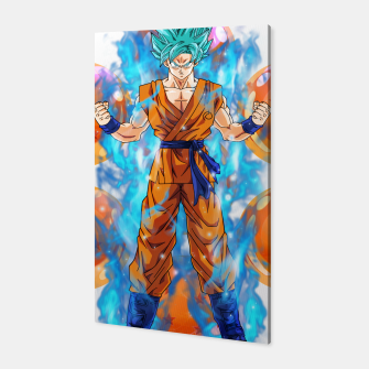 Dragon Ball Super Goku Super Saiyan Blue Powered up Canvas Bild der Miniatur