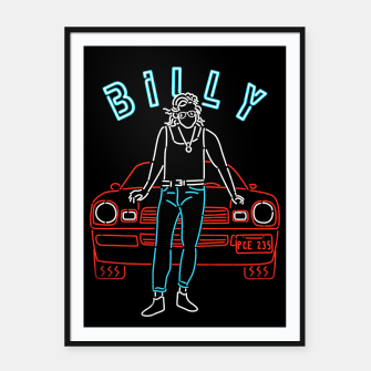 Miniatur Billy Framed poster, Live Heroes