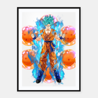Dragon Ball Super Goku Super Saiyan Blue Powered up Framed poster Bild der Miniatur